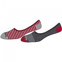 [해외]팀버랜드 Striped Blend Invisible 2 Pairs Tango Red