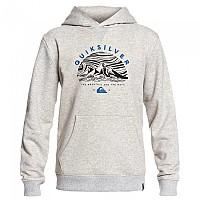 [해외]퀵실버 Big Logo Snow Youth Hoodie Light Grey Heather