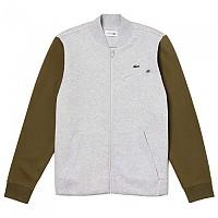[해외]라코스테 Sport Contrast Sleeves Fleece Teddy Silver Chine / Brousse