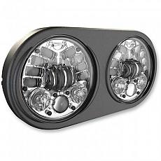 [해외]JW SPEAKER 8692 듀얼 Led Headlight 5.75´´ Chrome