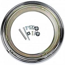 [해외]JW SPEAKER 400 Headlight Mounting Ring Kit Chrome