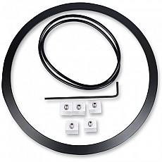[해외]JW SPEAKER 100 Headlight Mounting Ring Kit Black
