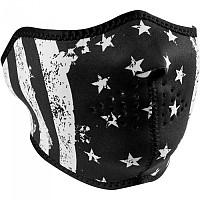 [해외]ZAN 헤드기어 Neoprene Half Face Mask 9137336878 Black / White Flag