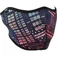 [해외]ZAN 헤드기어 네오prene 하프 Face Mask Neon Circuit