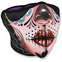 [해외]ZAN 헤드기어 네오prene 하프 Face Mask Sugar Skull