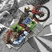 [해외]ZAN 헤드기어 Deluxe Motorcycle Montage