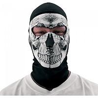 [해외]ZAN 헤드기어 Balaclava Coolmax 위드 네오prene Face Mask Black / White Skull
