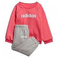 [해외]아디다스 Linear Jogger Infant Real Pink / Medium Grey Heather / White