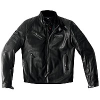 [해외]스피디 Ace Leather Jacket Dark Black