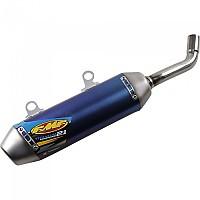 [해외]FMF Power코어 2.1 숏y Slip On Titanium TC250/TX300/250SX/250XC/350XC 19 Blue