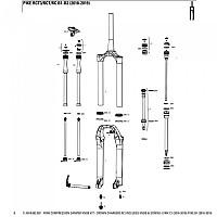 [해외]락샥 Crown Charger2 RC Fork Compression Damper Knob Kit For Lyrik C1/Pike B1 Black