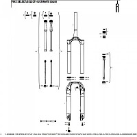 [해외]락샥 Fork Spring 에어 탑 Cap 35 mm For Lyrik A1/Yari A1/Pike B1/레버레이션 A1 Black