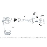 [해외]락샥 Rear Shock Reservoir Assembly For 슈퍼 Deluxe RC Black