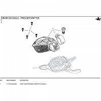 [해외]스램 Shift Lever Trigger Cover Kit SX Eagle Black
