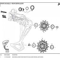 [해외]스램 Rear Derailleur Bolt And Screw Kit SX Eagle Black