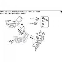 [해외]스램 Brake Lever Assembly Hydraulic 레드 22 Left Black
