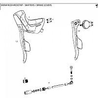 [해외]스램 Brake Lever Assembly Hydraulic 레드 Etap Left Black