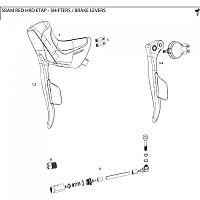 [해외]스램 Brake Lever Assembly Hydraulic 레드 Etap 라이트 Black