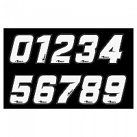 [해외]RTECH Number 0 Sticker 10 Units White