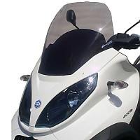 [해외]BULLSTER Piaggio MP3 125/250/300/400/하이브리드 Racing 윈드shield Smoked Black