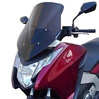 [해외]BULLSTER Honda Integra 700 스포츠 윈드shield Smoked Black