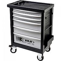 [해외]VAR 6 Drawer Workshop Tool Cabinet Black / Grey