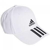[해외]아디다스 Baseball 3 Stripes Cotton Twill White / Black / Black