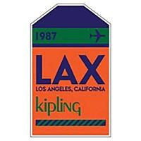 [해외]키플링 Puff 태그 LAX Orange