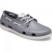 [해외]크록스 Classic Boat Shoe M Slate Grey / Pearl White