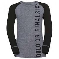 [해외]오들로 Warm Trend Big Shirt L/S Crew Neck Black / Placed Print Fw18