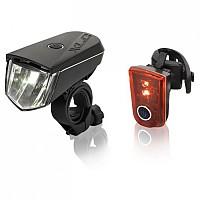 [해외]XLC Sirius B40 LED Reflector 세트 Black / Red
