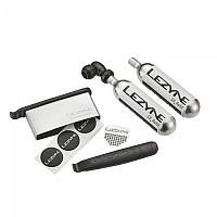 [해외]LEZYNE Twin Kit Twin Drive CO2 And Lever Kit Combo 2 X 16G Cartridge Lite Grey