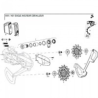 [해외]스램 Rear Derailleur Cover Kit Clutch XX1 Eagle Black