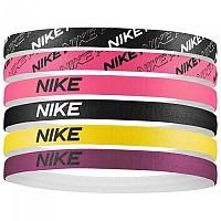 [해외]나이키 ACCESSORIES Headbands Assorted 6 Pack Black / Digital Pink