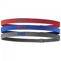 [해외]나이키 ACCESSORIES Elastic Hairbands 3 Pack Track Red / Game Royal / Iron Grey