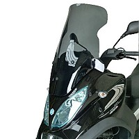 [해외]BULLSTER Piaggio MP3 LT 300/400/500 하이 Protection 윈드shield Smoked Grey