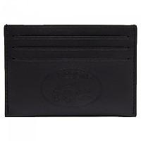 [해외]라코스테 L1212 레더 Casual 엠보스ed Br앤드ing 6 Card holder Black