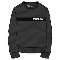 [해외]리플레이 M3087 스웨트shirt Black