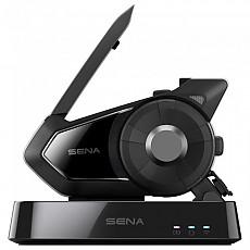 [해외]SENA 30K 모터사이클 블루투스 Communication System W/메쉬 Intercom WiFi 팩 Black
