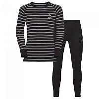 [해외]오들로 세트 Warm Kids Black / Grey Melange / Stripes