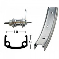 [해외]ROLAND Aluminium 203-23 8.5 mm Rear Silver