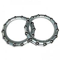 [해외]MIJNEN PIEPER Sphere Ring 36.2 mm 2 Units Silver