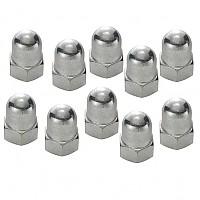 [해외]SCHWARZ Cap Nut For Front Wheel 10 Units Silver