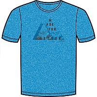 [해외]로플러 프린트shirt 소프트touch CF Brilliant Blue / Black