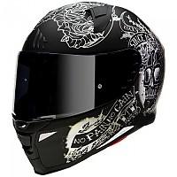 [해외]MT 헬멧 Revenge 2 Skull&로즈s Matt Black