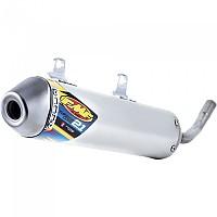 [해외]FMF Turbine코어 2.1 Slip On W/Spark Arrestor Stainlees 스틸 Silver