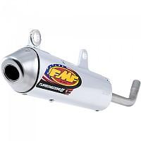 [해외]FMF Turbine코어 2 Slip On W/Spark Arrestor Stainless 스틸 Silver