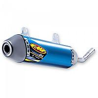 [해외]FMF Titanium Power코어 2.1 숏y Slip On Titanium Anodized Blue