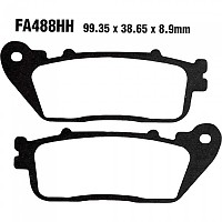 [해외]HI Q Brake Linings FA 488 HH Honda Rear 136433156