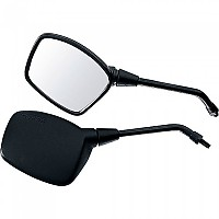 [해외]POLO Handlebar Mounted Mirror 14 Rectangular Left 9136433782 Black
